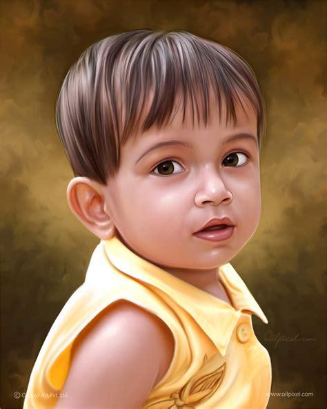 kid digital kid digital portrait paintings by oilpixel