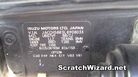 where the light is how to find your isuzu paint code youtube