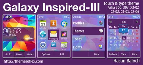 nokia c2 krishna themes galaxy inspired iii live theme for nokia asha 202 300 303