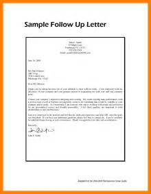 follow up resume follow up letter sle 7 follow up