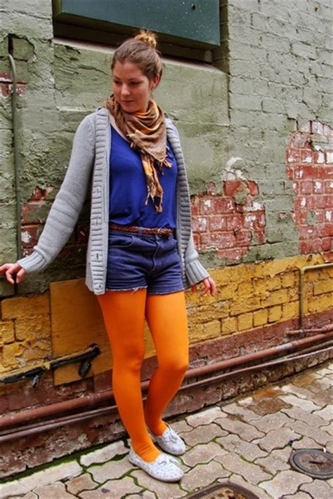 Tips For Wearing Orange by 5 Tips For Wearing Bright Tights The Fashion Styles