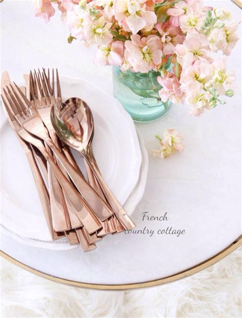 rose themed kitchen crushing on rose gold french country cottage