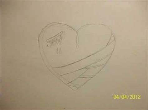 drawing  emo heart real easy step  step   minute