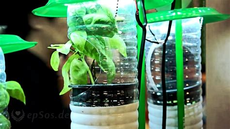 hydroponic farming system  plastic bottles  led