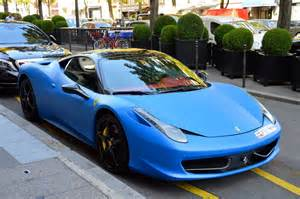 matte blue and yellow 458 italia duo in