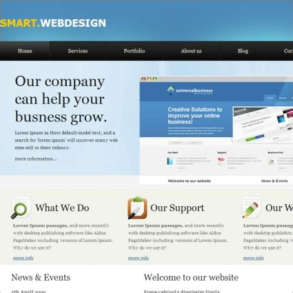 Html Homepage Design Templates Awesome Home Smart Website Templates