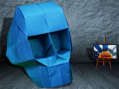 Origami Skull 3d - origami skull with 3d eye sockets by hojyo takashi