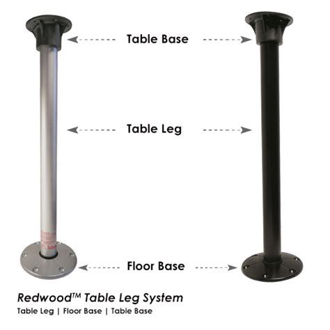 redwood table leg base system itc rv