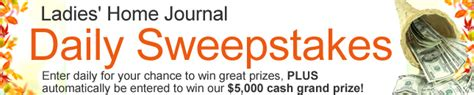 Ladies Home Journal Daily Sweepstakes - contest tourist of life