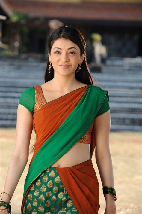 kajal heroine themes kajal aggarwal beautiful in half saree 0m06 clothing