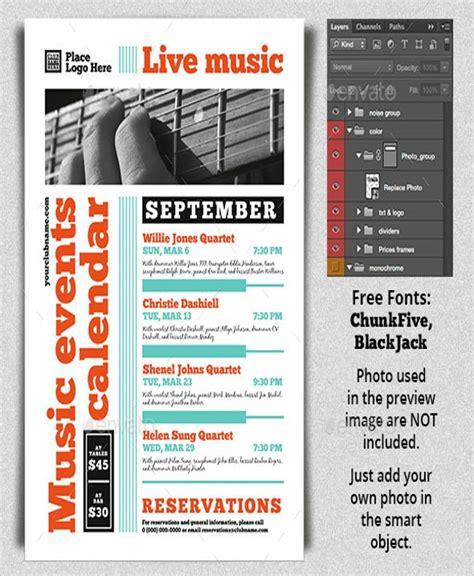 calendar flyer templates psd design vector eps