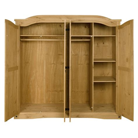 Corona Mexican Pine 4 Door Wardrobe by Corona Mexican 4 Door Wardrobe In Solid Pine Ebay
