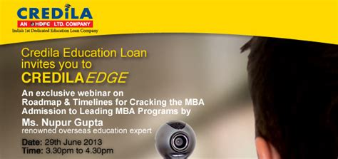 Education Loan For Mba Abroad by Credila Education Loan For Studying Abroad