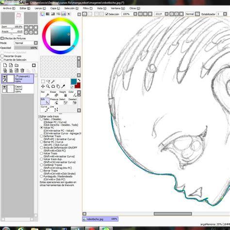 paint tool sai que es curso gratis de dibujar robot dibujo en paint tool