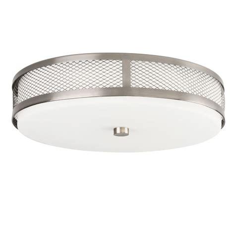 led diode light fixture kichler 42379ni brushed nickel 1 light 30 diode led flushmount indoor ceiling fixture