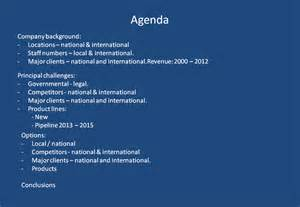 agenda slides don t work there is an effective and