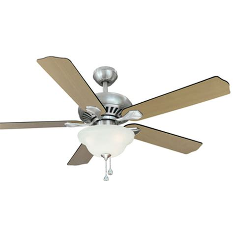 ceiling fan switch lowes shop harbor breeze crosswinds 52 in brushed nickel downrod