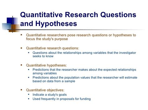 Pattern Of Research Questions | research questions and hypotheses