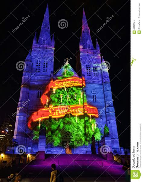 in australia christmas falls in which seasen tree seasons greetings st s cathedral sydney editorial stock image image 48317789