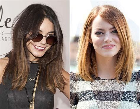 midi haircut vanessa hudgens emma stone do new midi length hair cut trend
