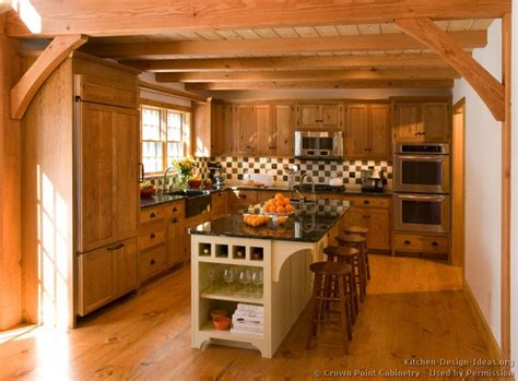 Log Home Kitchen Design Ideas early american kitchens pictures and design themes