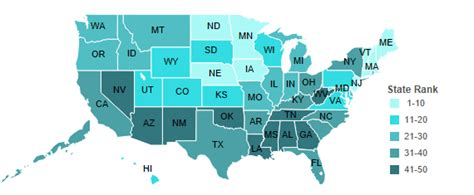 healthiest states in america the healthiest states in america to raise children