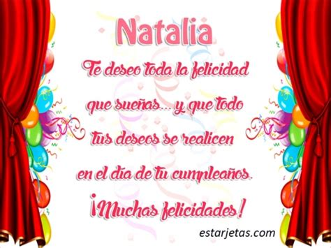 Imagenes Feliz Cumpleaños Natalia | feliz cumplea 241 os natalia im 225 genes de estarjetas com