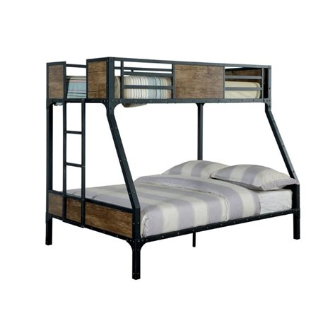 furniture of america bunk beds furniture of america baron twin over full bunk bed in