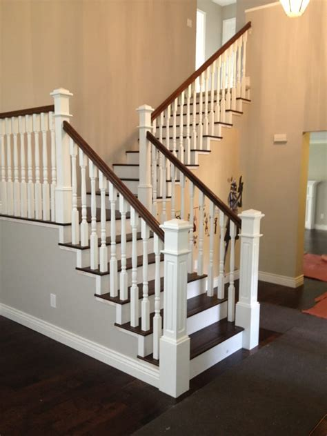 New Banister Beautiful Traditional White And Dark Wood Staircase This