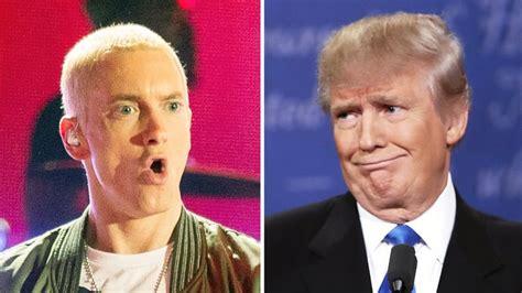 donald trump reacts to eminem eminem drops donald trump diss track ahead of final debate