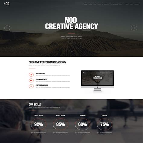 Nod Business Landing Page Html Template Flytemplates Modern Wordpress Themes Caign Landing Page Templates