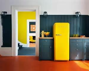 Ordinary Cuisine Blanche Et Mur Gris #13: Deco-cuisine-bleu-jaune.jpg