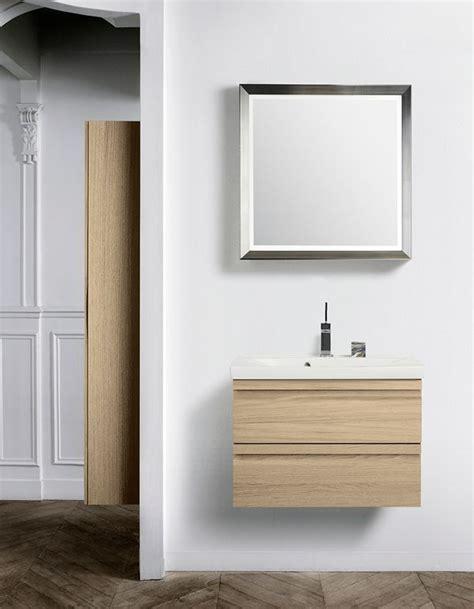 Dansani Bathroom Furniture Oak Vanity Unit In Combination With A Modern Framed Mirror With Handmade Silverleaf Dansani