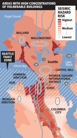 seattle earthquake map quake risk 575 seattle buildings seattlepi