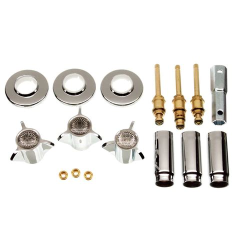 3 handle valve tub shower rebuild trim kit for sayco