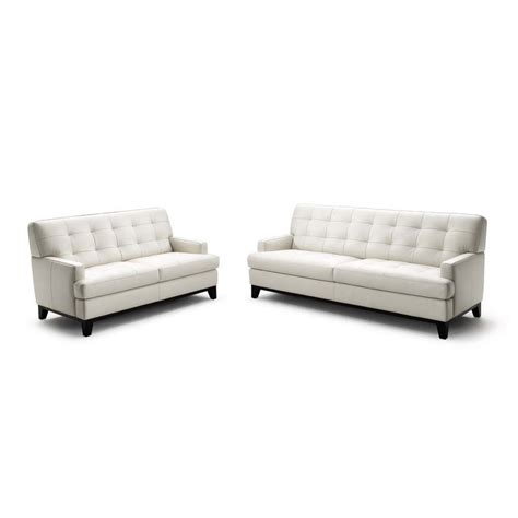 and white sofa set wholesale interiors adair leather loveseat and sofa set