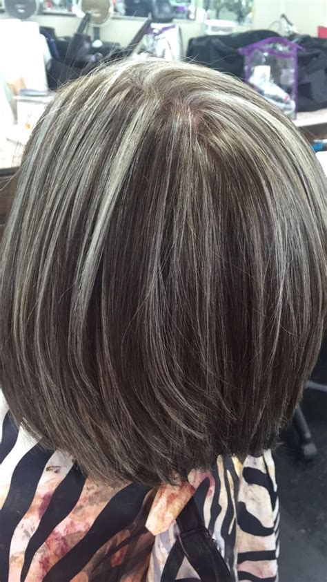 photographs of grey hair with highlights best highlights to cover gray hair wow com image
