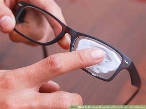 remove scratches from plastic lens glasses glasses