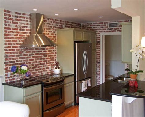 faux brick kitchen backsplash faux brick backsplash for color and character great home