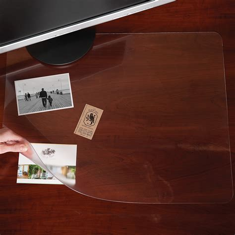 Office Desk Protector Es Robbins Rectangle Desk Pad Platic Clear Mat Protector Office Table 19x24 Ebay