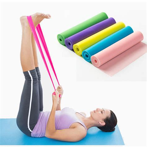 Elastic Rubber Stretch Rope Pilates Limited pilates home sport exercise elastic rubber resistance bands workout crossfit