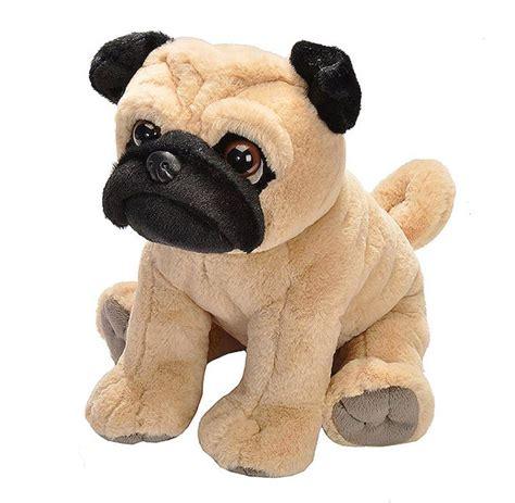 pug stuffed pug fawn stuffed plush 30cm pet shop by republic new ebay