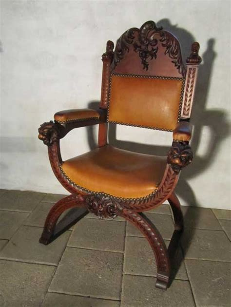 carved wood chair antique antique carved wood leather throne chair for sale at pamono