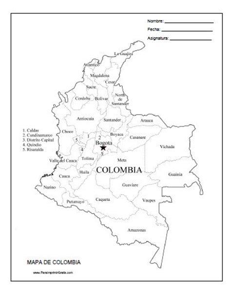 mapa para imprimir gratis paraimprimirgratiscom mapa de colombia para imprimir gratis