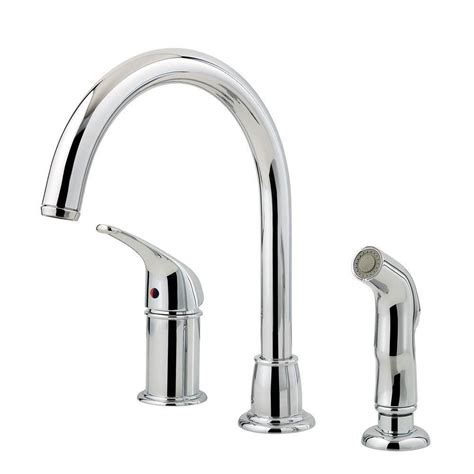 kitchen faucet pfister pfister cagney single handle standard kitchen faucet with side sprayer in polished chrome lf wk1