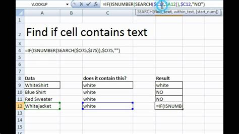 How To Find To Text Find Text In A Cell Spreadsheet Using Excel Formula