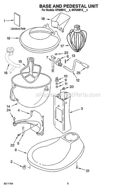 KitchenAid 4KP26M1XMC4 Parts List and Diagram : eReplacementParts.com