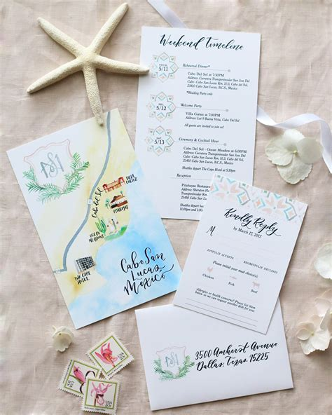 custom wedding invitations san jose ca cabo san lucas lasercut destination wedding invitations
