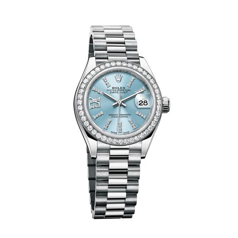 oyster perpetual datejust 28mm in platinum