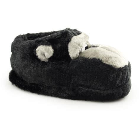 mens animal slippers monkey mens cushioned novelty animal slippers buy